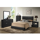Baxton Studio Carlson 5-Piece Queen Size Modern Bedroom Set in Black