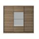 Manhattan Comfort Hudson 3-Door Wardrobe in Chocolate 34336