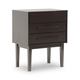 Baxton Studio Abner Modern Nightstand/End Table in Dark Brown