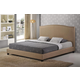 Baxton Studio Aisling Queen Fabric Platform Bed in Dark Beige