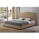 Baxton Studio Aisling King Fabric Platform Bed in Dark Beige