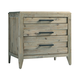 Casana Furniture Harbourside 3 Drawer Nightstand in Weathered Acacia