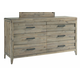 Casana Furniture Harbourside 8 Drawer Dresser in Weathered Acacia