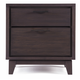Casana Furniture Sierra 2 Drawer Nightstand in Dark Mindi