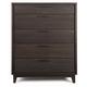 Casana Furniture Sierra 5 Drawer Chest in Dark Mindi