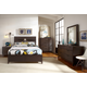 Casana Furniture Sierra 4-Piece Panel Bedroom Set in Dark Mindi