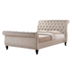 Baxton Studio Antoinette King Modern Platform Bed in Light Beige