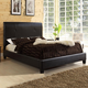 Baxton Studio Cambridge Queen Bed in Dark Brown
