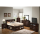 Emma Mason Signature G1525 4-Piece Storage Bedroom Set in Cappaccino