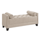 Baxton Studio Hirst  Bedroom Bench in Light Beige
