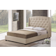 Baxton Studio Ipswich Queen Linen Modern Platform Bed in Light Beige