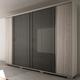 Manhattan Comfort Soho 6-Door Wardrobe in Nature White and Onyx 33848
