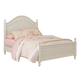 Standard Furniture Camellia Twin Poster Bed in Marshmallow