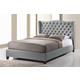 Baxton Studio Norwich King Modern Platform Bed in Grey Linen
