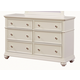 Standard Furniture Camellia Dresser in Marshmallow 95209