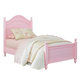 Standard Furniture Camellia Twin Poster Bed in Bubblegum