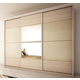 Manhattan Comfort Noho 3-Door Wardrobe in Oak Vanilla and Nude 34263