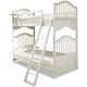 Smartstuff Furniture Genevieve Twin Bunk Bed in French White 434A530
