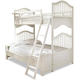 Smartstuff Furniture Genevieve Twin Over Full Bunk Bed in French White 434A590