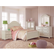 Standard Furniture Camellia 4-Piece Poster Bedroom Set in Marshmallow