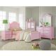 Standard Furniture Camellia 4-Piece Poster Bedroom Set in Bubblegum