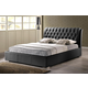 Baxton Studio Bianca Queen Modern Bed with Tufted Headboard in Black