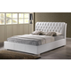 Baxton Studio Bianca King Modern Bed with Tufted Headboard in White
