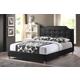 Baxton Studio Carlotta Queen Modern Bed with Upholstered Headboard in Black