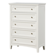 Standard Furniture Cooperstown Drawer Chest in White 99955