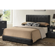 Baxton Studio Carlson Queen Size Wood Modern Bed in Black