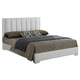 Baxton Studio Carlson Queen Size Wood Modern Bed in White
