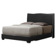 Baxton Studio Duncombe Queen Modern Bed with Upholstered Headboard in Black