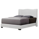 Baxton Studio Duncombe Queen Modern Bed with Upholstered Headboard in White