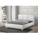 Baxton Studio Goodrick Queen Modern Bed with Upholstered Headboard in White
