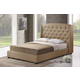 Baxton Studio Ipswich Queen Linen Modern Platform Bed in Dark Beige