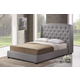 Baxton Studio Ipswich Queen Linen Modern Platform Bed in Gray