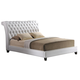 Baxton Studio Jazmin King Tufted Modern Bed with Upholstered Headboard in White