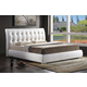 Baxton Studio Jeslyn King Modern Bed with Tufted Headboard in White