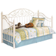 Exquisite Metal Day Bed with Deck in in White B188-80