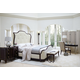 Bernhardt Miramont Upholstered Sleigh Bedroom Set in Dark Sable