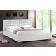 Baxton Studio Madison King Bed Modern Bed with Upholstered Headboard in White