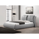 Baxton Studio Malloy Queen Modern Bed with Upholstered Headboard in Gray