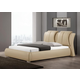 Baxton Studio Malloy Queen Modern Bed with Upholstered Headboard in Taupe