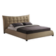 Baxton Studio Marguerite Queen Linen Modern Platform Bed in Dark Beige