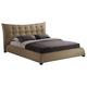 Baxton Studio Marguerite King Linen Modern Platform Bed in Dark Beige