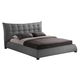 Baxton Studio Marguerite Queen Linen Modern Platform Bed in Gray