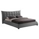 Baxton Studio Marguerite King Linen Modern Platform Bed in Gray