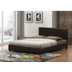 Baxton Studio Pless Full Size Modern Bed in Dark Brown