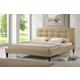 Baxton Studio Quincy Queen Linen Platform Bed in Dark Beige