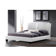 Baxton Studio Sabrina Queen Modern Bed with Overstuffed Headboard in White